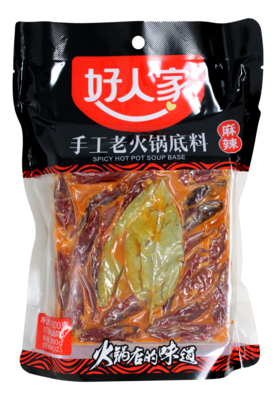 HAORENJIA SPICY HOT POT SOUP BASE 好人家 手工麻辣老火锅底料(500G)