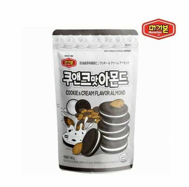 MURGERBON COOKIE & CREAM FLAVOR ALMOND 韩国 饼干奶油味味杏仁粒(180G)