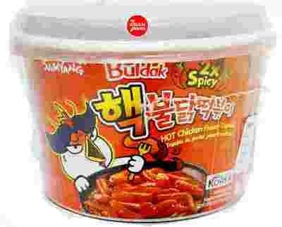 SAMYANG TWO TYPE HOT CHICKEN FLAVOR TOPOKKI 韩国三养 双倍辣火辣鸡味即食年糕条