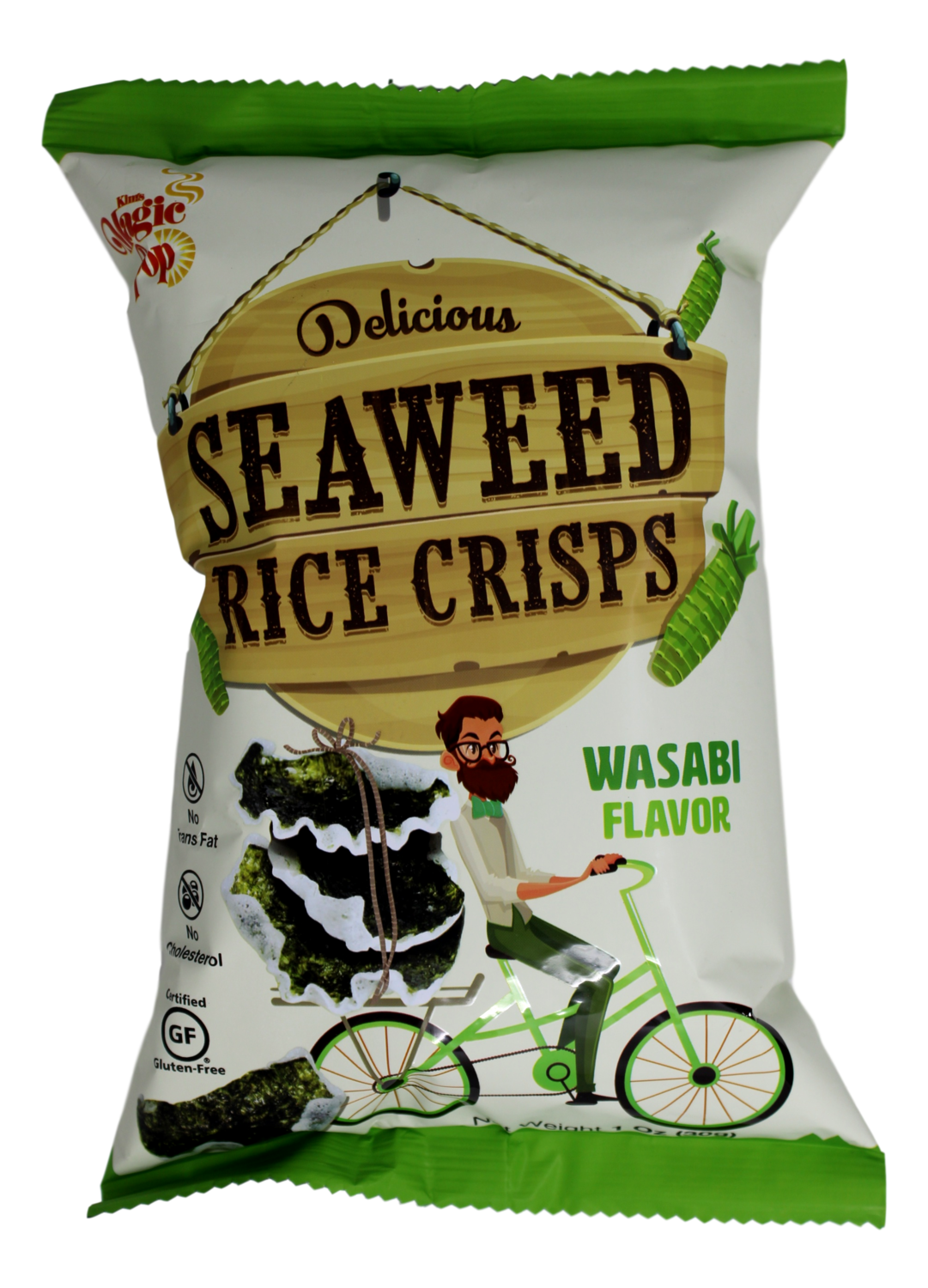 MAGIC POP SEAWEED RICE CRISPS (WASHABI) Magic Pop海苔脆米片 芥末味