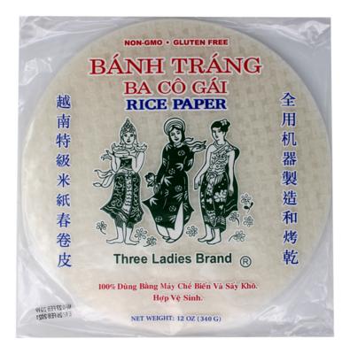 THREE LADY  RICE PAPER 28CM 三仙女 越南特级米纸春卷皮(28CM)
