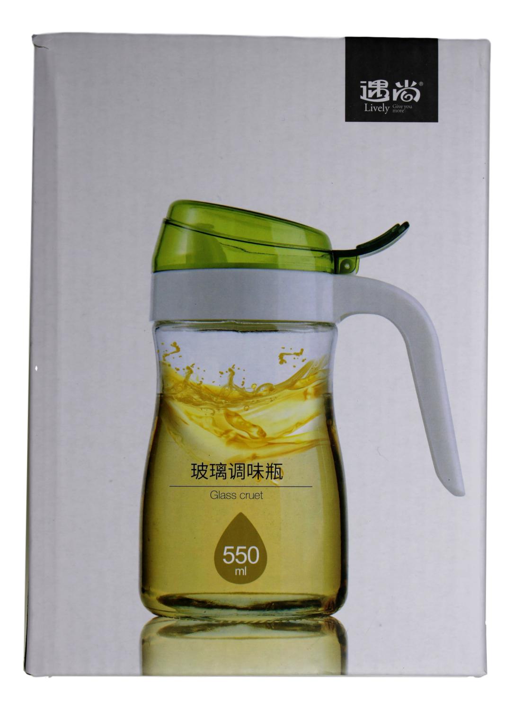 GLASS DISPENSER 550ML 遇尚 玻璃调味瓶 550ML(6955746203274)