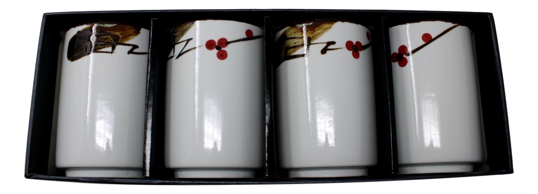 Tea Cups Gift Set (4号)白色瓷碗(四个) 礼盒装 8712300000230