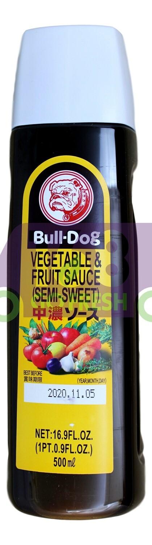 BULL-DOG VEGETABLE FRUIT SEMI- SWEET SAUCE 日本 BULL-DOG 蔬菜水果少甜酱(500ML)