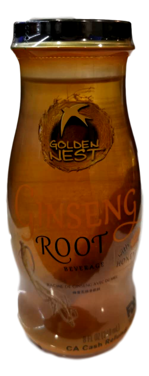 GOLDE NET Bird's Net Drink-Ginseng W/ Honey 240ml 金燕窝燕窝饮品-蜂蜜花旗参单瓶装240ml