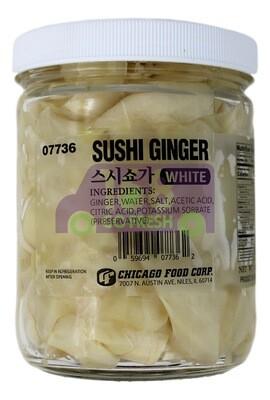 PICKLED SUSHI GINGER - WHITE 寿司姜白色#07736(16OZ)