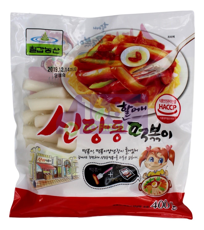 CHILLED STICK RICE CAKE WITH SAUCE 韩国 辣炒年糕条(里面有酱包)