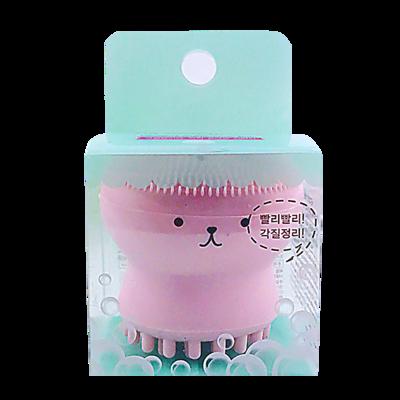 ETUDE HOUSE EXFOLIATING JELLYFISH SILICON BRUSH韩国爱丽小屋粉色小章鱼硅胶洗脸刷-祛角质/按摩