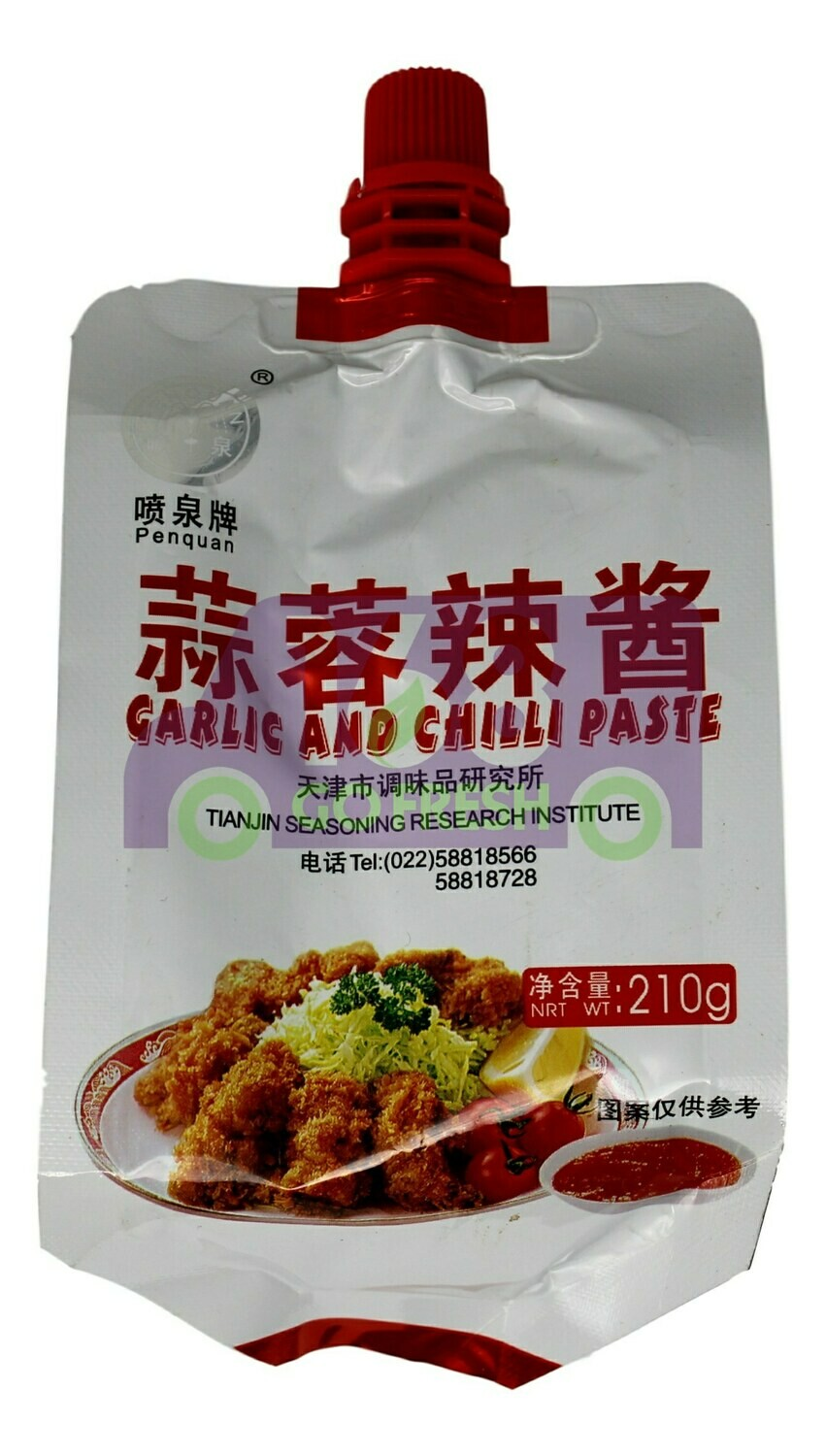 PEN QUAN GARLIC CHILI PASTE 喷泉牌 蒜蓉辣酱(210G)