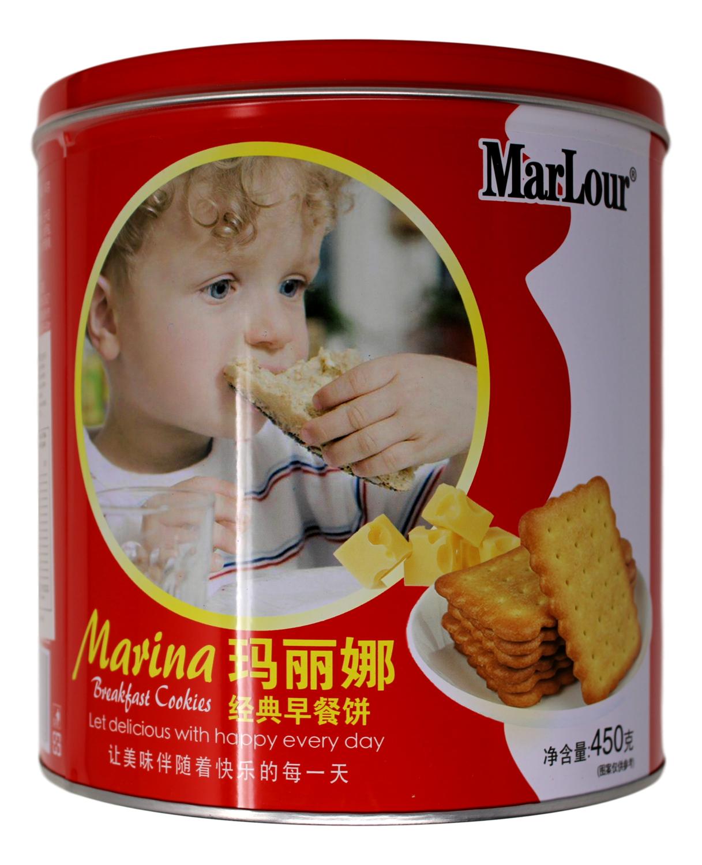 MARLOUR MARINA BREAKFAST COOKIES 玛丽娜 经典早餐饼干(铁罐450G)