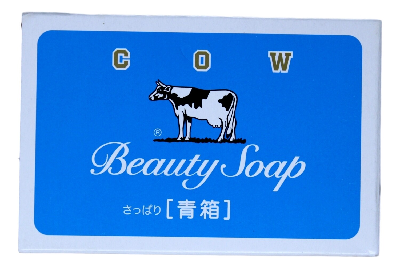 JAPAN COW BRAND Beauty Creamy Bubble Milk Soap 85g 日本COW牛奶保湿滋润沐浴皂-蓝色纸盒85g 4901525117012