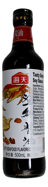 TASTY SEAFOOD FLAVORED SOY SAUCE 海天 海鲜酱油(500G)