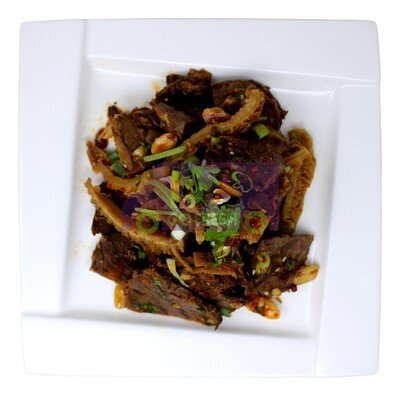 Sliced Beef and Ox tongue in chili Sauce (熟食)夫妻肺片