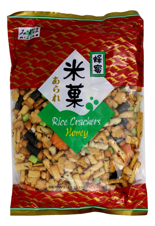 MIZUHO HONEY RICE CRACKERS 日式 蜂蜜米菓(绿16OZ)673367415970