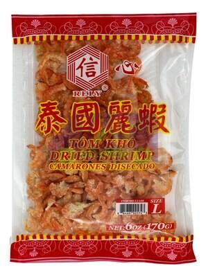 DRIED SHRIMP(L) 信心 泰国丽虾 尺寸:L (6OZ)