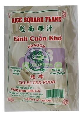 DRAGON RICE SQUARE FLAKE 龙牌 越南粿汁(面片)(12OZG)