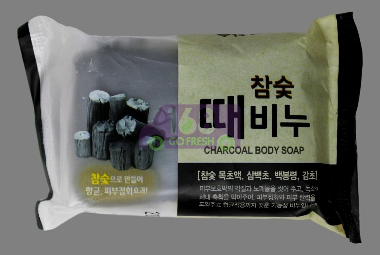KOREAN  EXFOLIATING SOAP - CHARCOAL 韩国 去角质木炭美容皂-黑