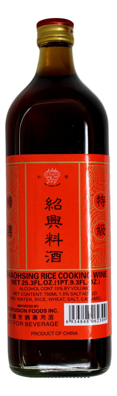 SHAOSING RICE COOKING WINE 红灯 绍兴料酒(25.3FL.OZ)