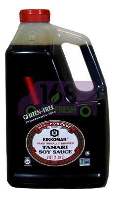 KIKKOMAN TAMARI SOY SAUCE- GLUTEN FREE 万字TAMARI酱油-不含麸质(1.89L)