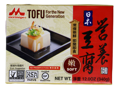 MORINAGA SOFT TO-FU MORINAGA 营养嫩豆腐(12OZ)