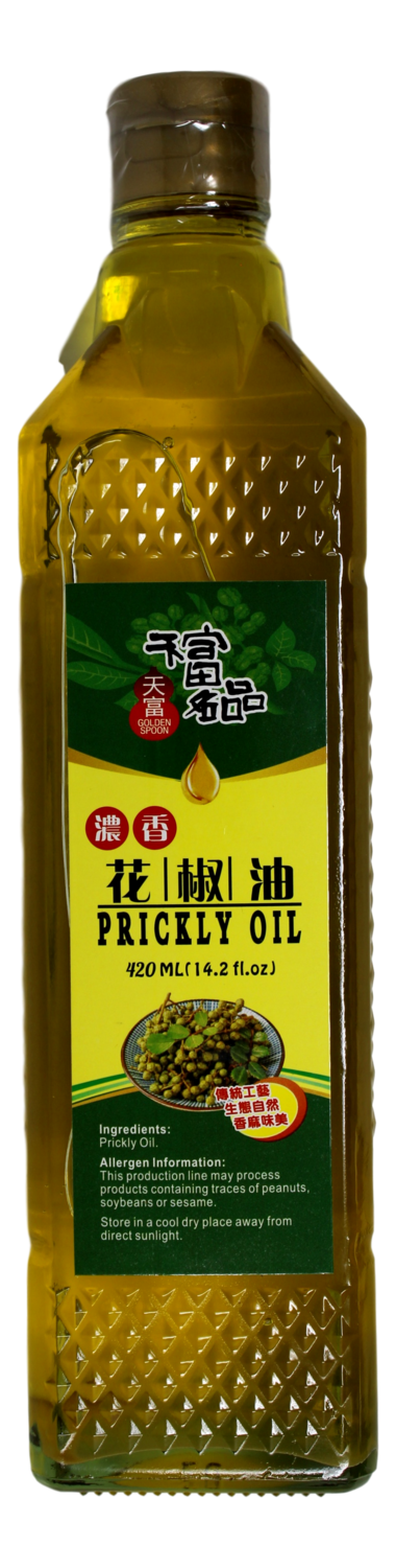 GOLDEN SPOON PRICKLY OIL 天富名品 浓香花椒油(420ML)