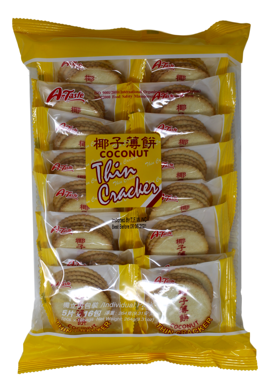 ATASTE COCONUT THIN CRACKER ATASTE 椰子薄饼(264G)