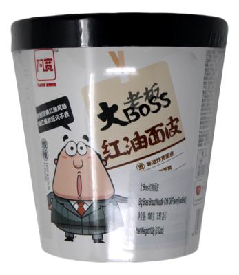 BIG BOSS BROAD NOODLE-CHILI OIL FLAVOR 大老板红油面皮(100G)