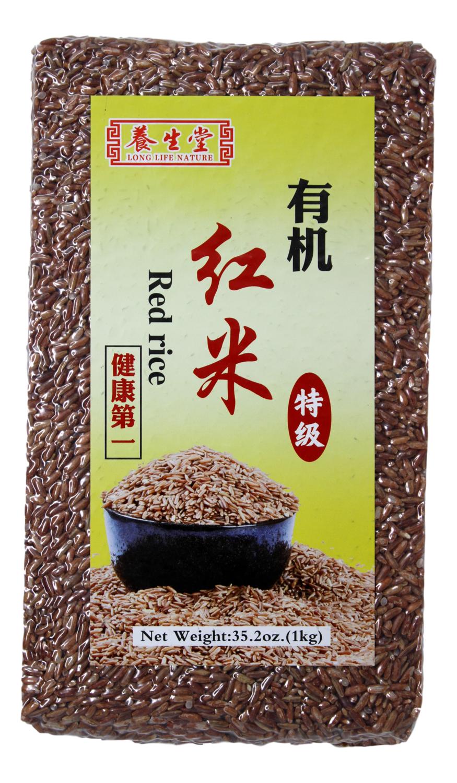 LONG LIFE NATURE ORGANIC RED RICE 养生堂有机红米(1KG)