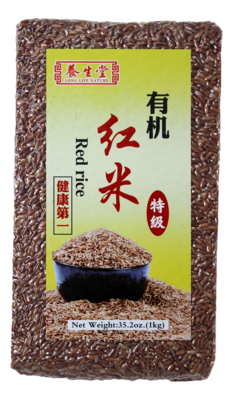 LONG LIFE NATURE ORGANIC RED RICE 养生堂有机红米(1KG)