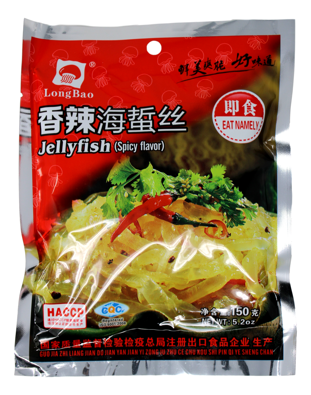 LONGBAO JELLYFISH (SPICY FLV)(150G) 即食香辣海蜇丝(150G)