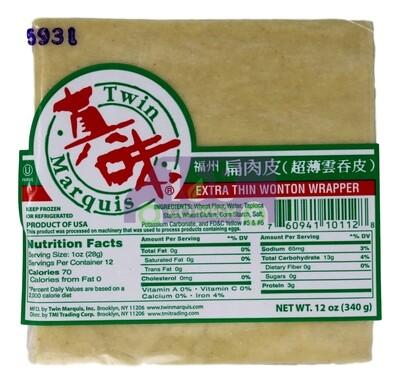TMI EXTRA THIN WONTON WRAPPER 真味 福州扁肉皮(12OZ)