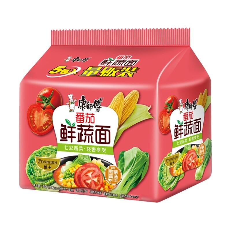 TOMATO INSTANT NOODLE 康师傅 番茄鲜蔬面 5包入 (505g)