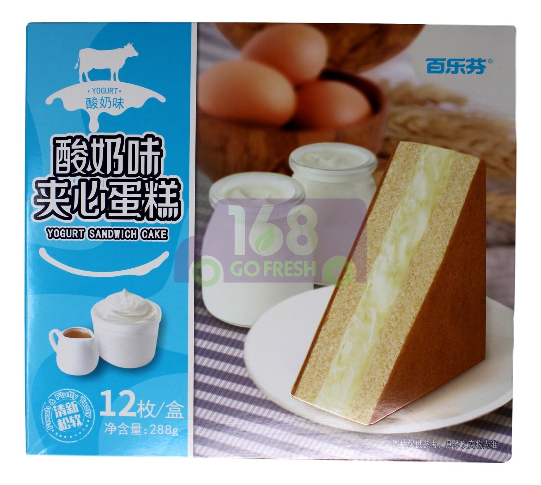 BAILEFEN YOGURT SANDWICH CAKE 百乐芬 酸奶味夹心蛋糕(288G)