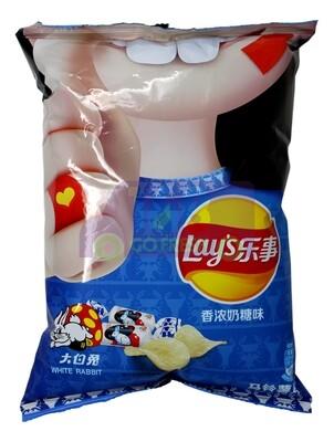 LAYS POTATO CHIP WHITE RABBIT 乐事大白兔奶糖味薯片(65G)