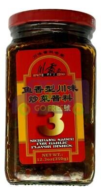 SPICY KING SICHUANG SAUCE FOR GARLIC FLAVOR DISHES 川霸王 鱼香型川味炒菜酱料3号(12.3OZ)