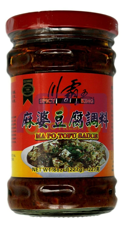 SPICY KING MAPO TOFU SAUCE 川霸王 麻婆豆腐调味(8OZ)