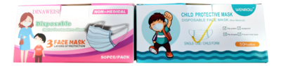 CHILDREN CARTOON MASK (50 Count) 一次性卡通儿童防护口罩(50只装) (粉色)
