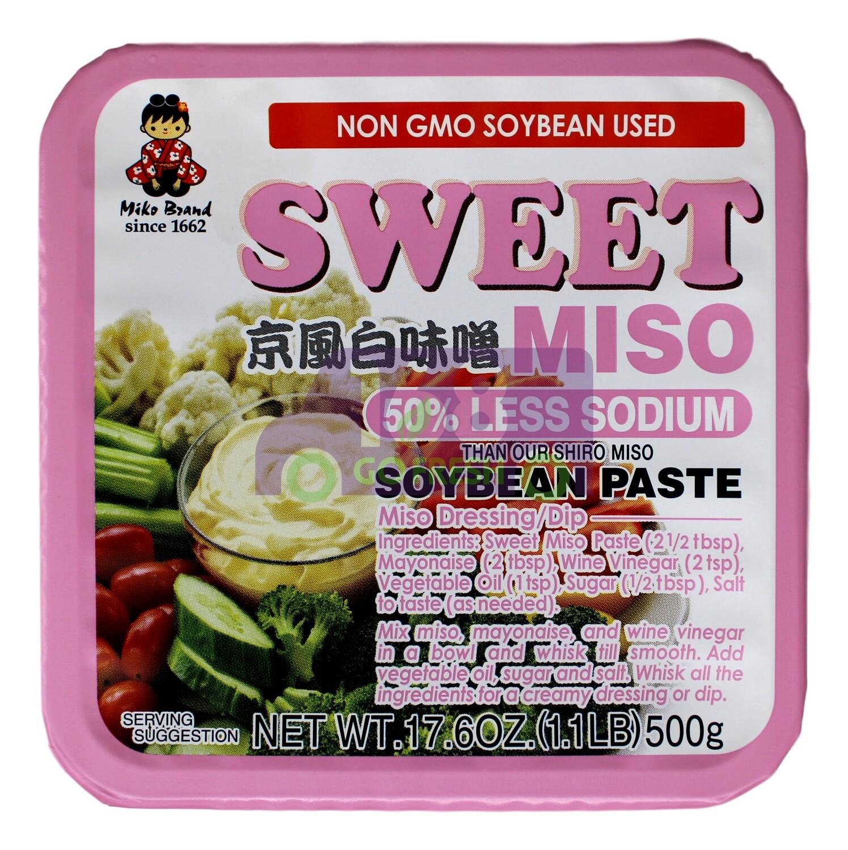 MIKO SWEET MISO SOYBEAN PASTE 50% LESS SODIUM 日本MIKO 甜味增 减盐(粉色包装)(17.6OZ)