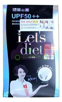 促销 - LET'S DIET COOL AQUA  MIZ PREMUIM AQUA WRISTLET韩国冰丝防晒冰袖-抗UV防晒SPF50PA+++(原价$13.79)