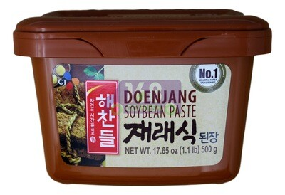 CJ DOENJANG SOY BEAN PASTE 韩国CJ 黄豆酱 棕 (500G)