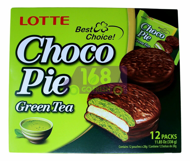 Lotte Choco Pie (GREEN TEA) 乐天 绿茶巧克力派