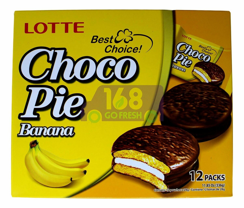 LOTTE CHOCO PIE BANANA FLAV 乐天 香蕉巧克力派(12块装)