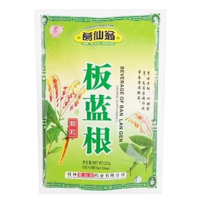 GE XIAN WENG BEVERAGE OF BAN LAN GEN 葛仙翁 板蓝根冲剂(15G*15)