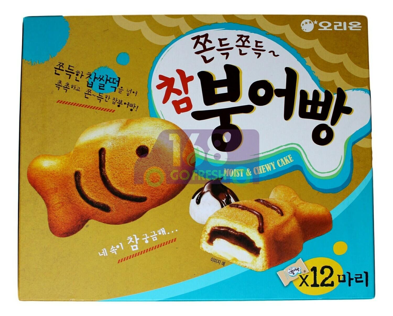 ORION MOIST&CHEWY CAKE 韩国好丽友 红豆糯米巧克力鱼形蛋糕(12块装)