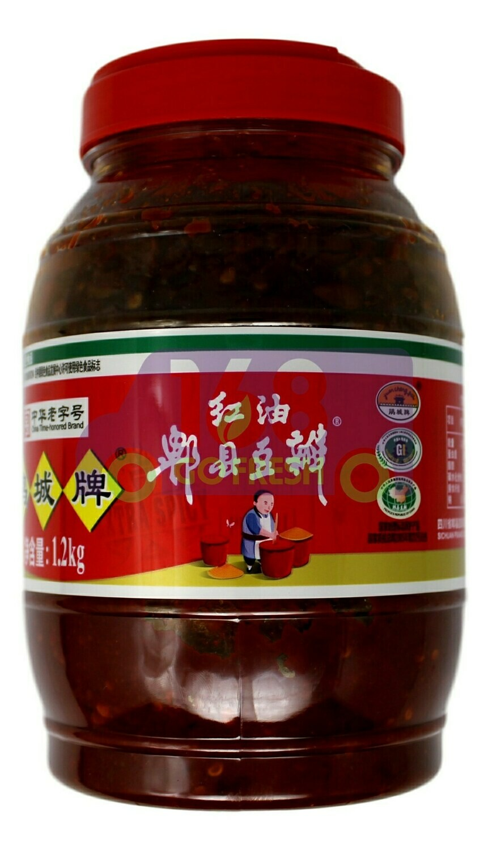 BEAN PASTE WITH CHILI OIL 鹃城牌 红油郫县豆瓣 (1.2KG)