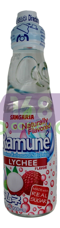 SANGARIA RAMUNE DRINK - LYCHEE 日本 SANGARIA 弹珠汽水(200 ML*6 瓶)
