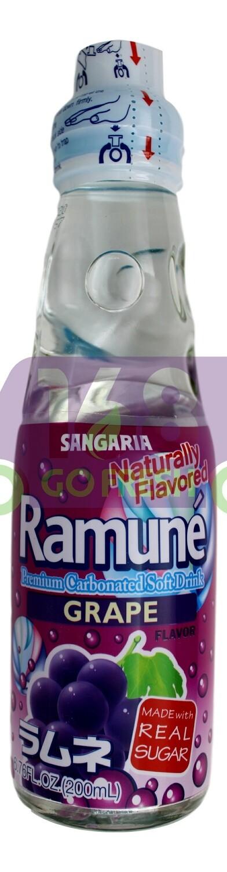 SANGARIA RAMUNE DRINK - GRAPE 日本 SANGARIA 葡萄味弹珠汽水(200 ML*6 瓶)