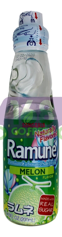SANGARIA RAMUNE DRINK - MELON 日本 SANGARIA 哈密瓜味弹珠汽水(200 ML*6 瓶)