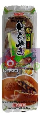 Shirakiku Baked Red Bean Cake with Chestnut 日本 栗子红豆铜锣烧(蛋糕)  290G