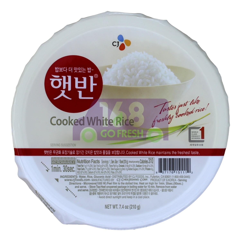 CJ COOKED WHITE RICE 韩国CJ 方便米饭 即食饭(210G)